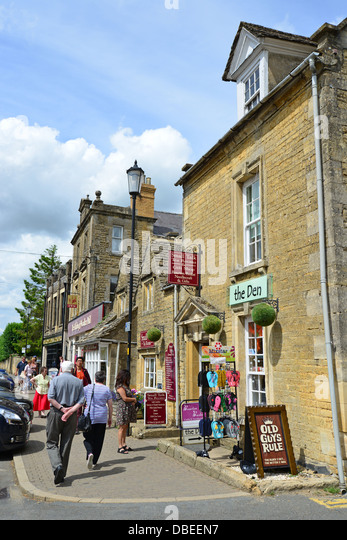 Bourton on the Water United Kingdom  City pictures : Bourton On The Water Cotswolds Stock Photos & High Street Bourton ...