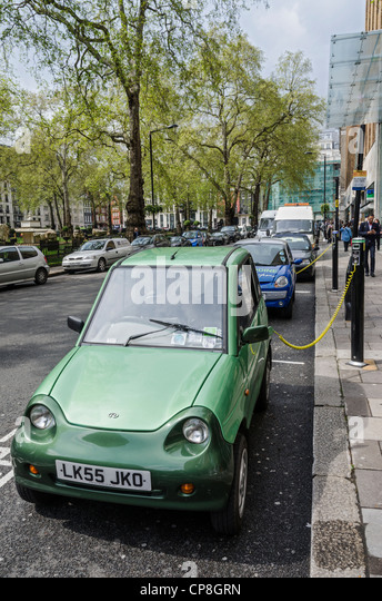 Electric Cars Charge London Stock Photos Electric Cars Charge
