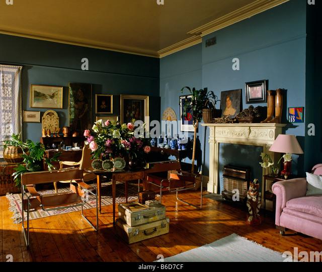 Beautiful Eighties Style Living Room Interior   Stock Image