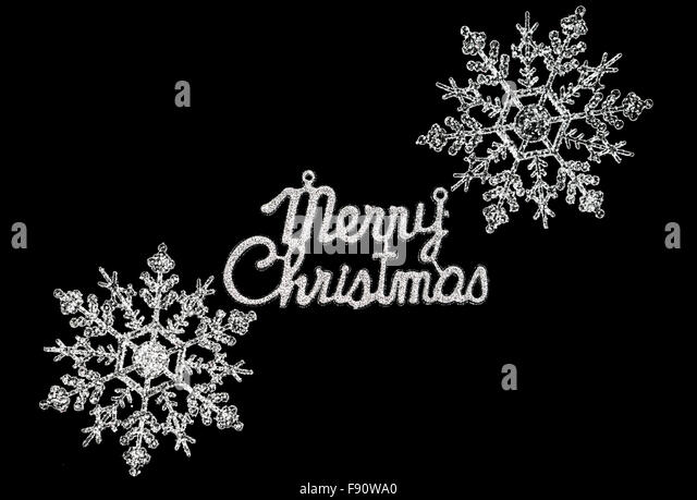 Black Merry Christmas Card Silver Stock Photos & Black Merry ...