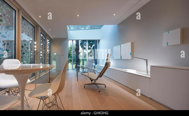Living Area With Full Height Window Towards Park House In Brixton London