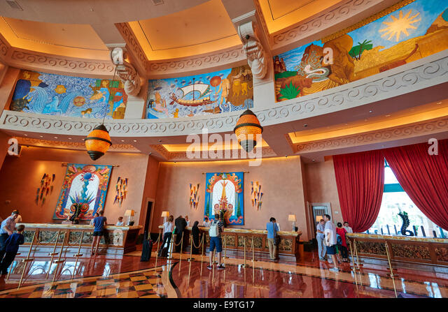 Royal Towers Grand Lobby Reception Atlantis Hotel The Palm Dubai UAE