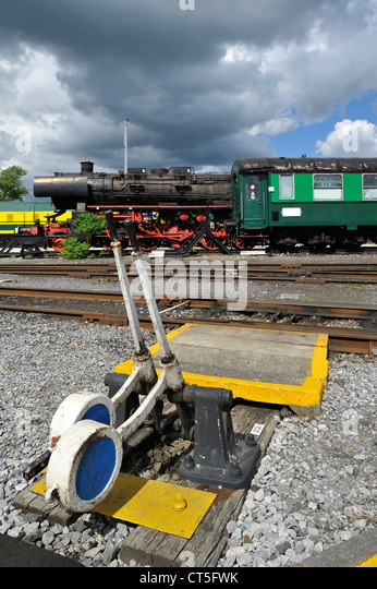 Lever Train Track : Railway signal lever stock photos