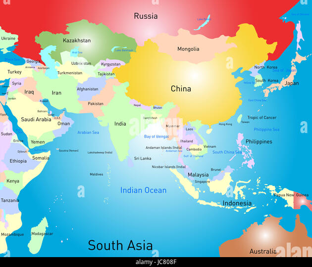 South china sea map vector stock photos south china sea map vector vector color south asia map stock image gumiabroncs Gallery