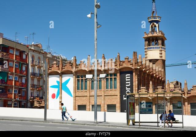 Caixa forum barcelona stock photos caixa forum barcelona for Caixa d enginyers oficines barcelona