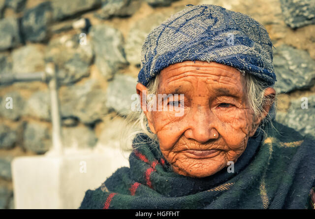 Old Woman With Piercing Stock Photos & Old Woman With Piercing Stock Images - Alamy
