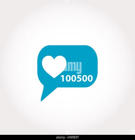Love Icon Heart Symbol Flat Stock Photos Love Icon Heart Symbol