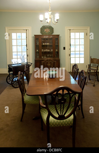 The Dining Room At Rowan Oak The Home Of William Faulkner In Oxford  Mississippi USA