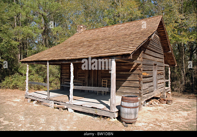 Old cabin in woods stock photos old cabin in woods stock for Simple log homes
