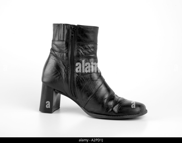 Black Leather Ankle Boots Stock Photos &amp Black Leather Ankle Boots