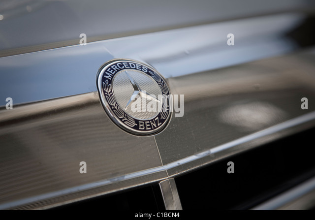 Hood bonnet ornament stock photos hood bonnet ornament for Mercedes benz bonnet badge