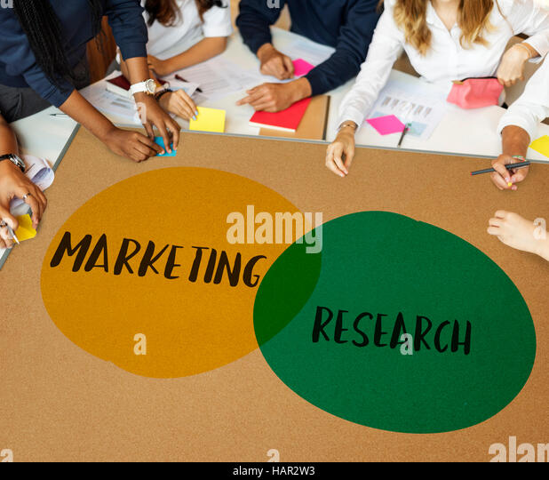 marketing research ideas motivation circles concept stock image