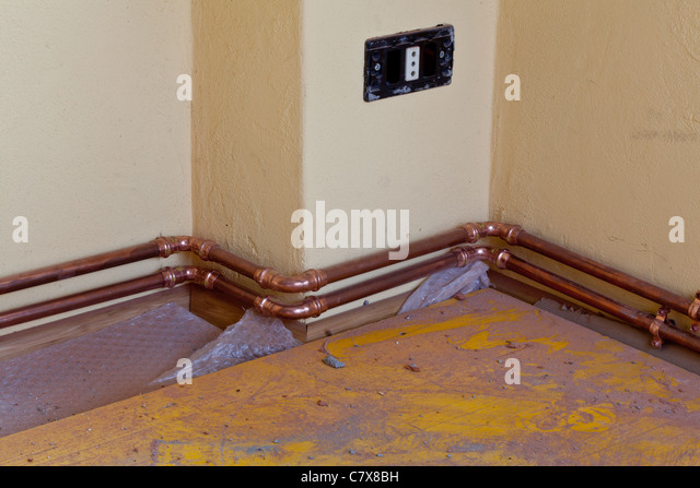 Heater Copper Pipes Stock Photos Heater Copper Pipes