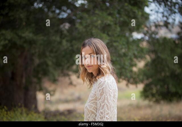 Woman In Park Stoney Point Topanga Canyon Chatsworth Los Angeles California