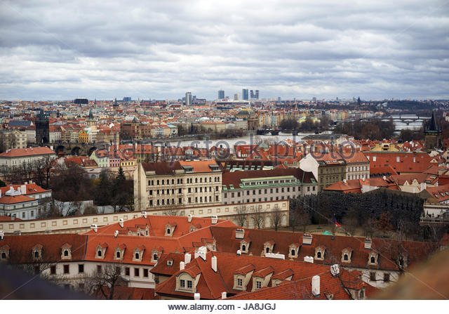 Prague castle view stock photos prague castle view stock for Where is prague near