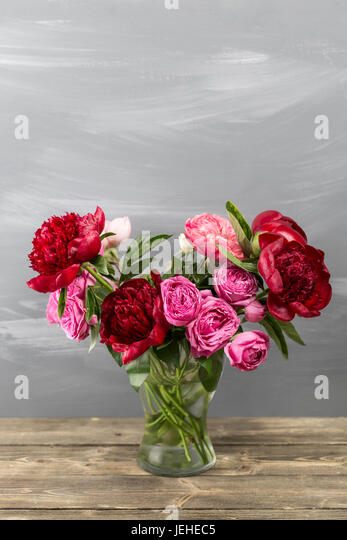 Red Peony Vase Stock Photos Red Peony Vase Stock Images Alamy