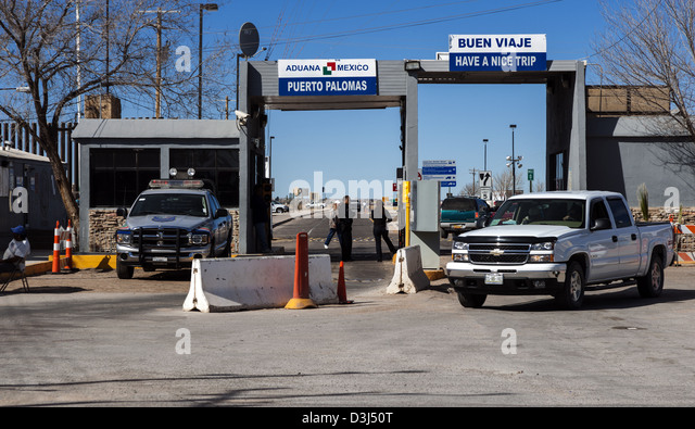 Looking Through The Puerto Palomas On The U.S./Mexico Border In To The USA  From