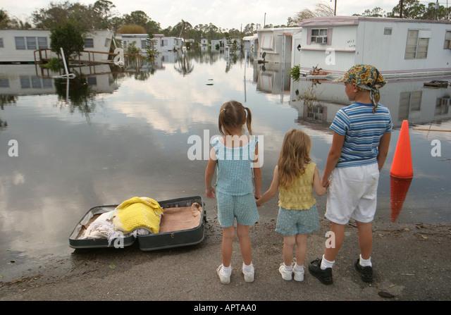 Florida Fort Pierce Hurricane Jeanne Damage Flooded Trailer Mobile Home Park Resident Children Contaminated Water