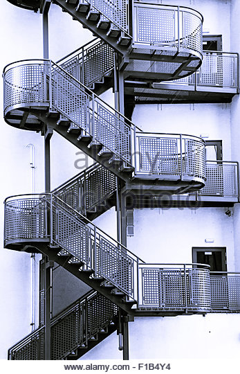 Metal Staircase Modern Stock Photos Metal Staircase
