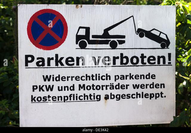 Verboten stock photos verboten stock images alamy for Parken in warnemunde