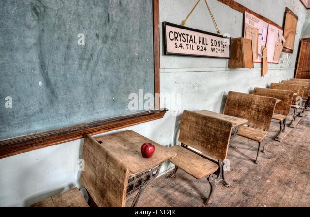 Abandoned School House One Room Canada Saskatchewan