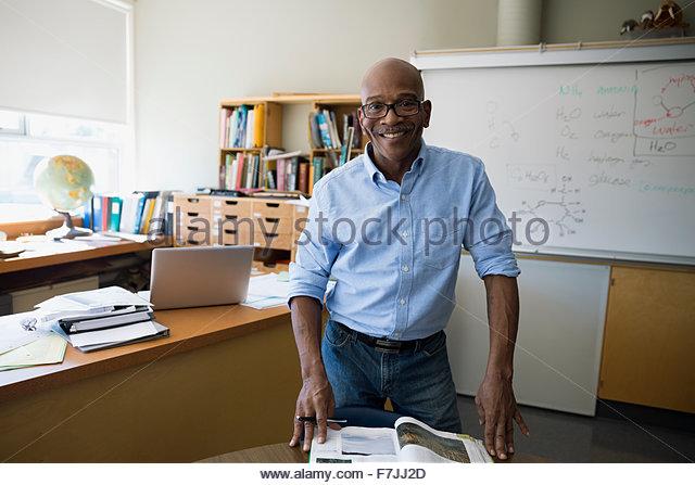 Smiling Chemistry Teacher School Stock Photos & Smiling Chemistry ...