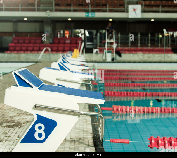 Olympic Swimming Pool In Person: Olympic Swimming Pool No People Stock Photos & Olympic