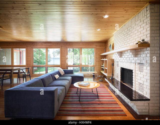 Eames Interior eames house interior stock photos & eames house interior stock