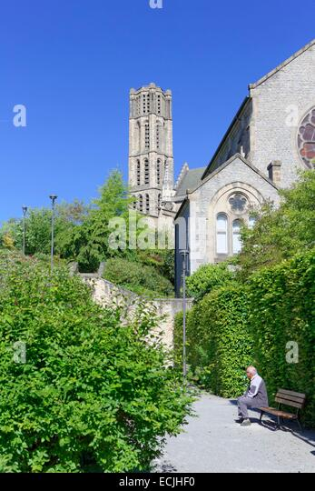 France haute vienne limoges cathedral of saint etienne jardin stock photo picture and - Jardin mediterraneen limoges ...
