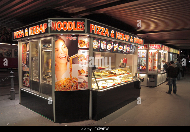 Snack bar kiosk stock photos snack bar kiosk stock for Food bar vienna