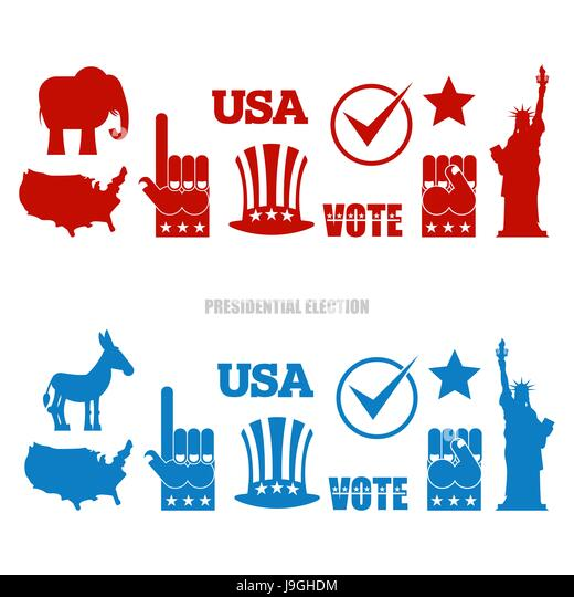 Democratic Donkey Republican Elephant Stock Photos ...