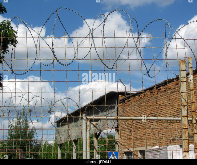 Barbed Wire Fence Fencing Industrial Stock Photos & Barbed Wire ...