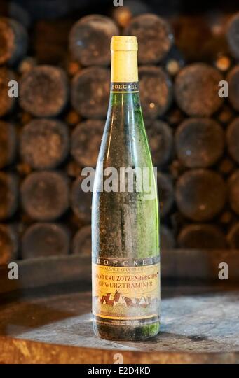 Alsace wine bottle label stock photos alsace wine bottle for Most beautiful wine bottles