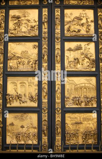 The bronze doors (gates of paradise) of the Battistero San Giovanni (Florence Baptistery & Bronze Doors Stock Photos \u0026 Bronze Doors Stock Images - Alamy Pezcame.Com