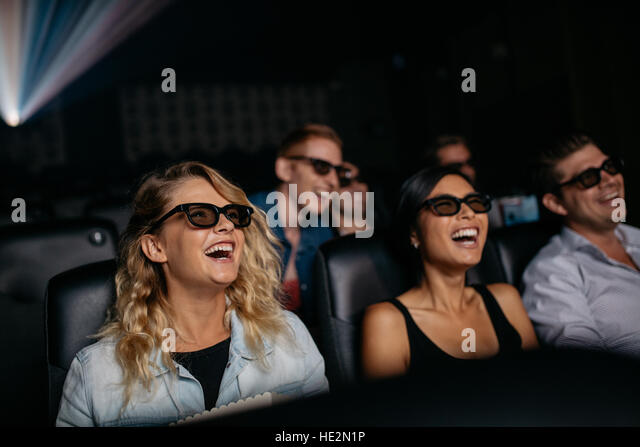 Movie Theater With People Laughing