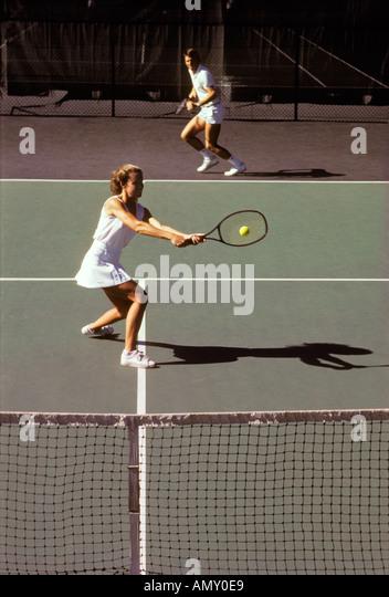 Tennis Mixed Doubles Match Stock Photos & Tennis Mixed ...