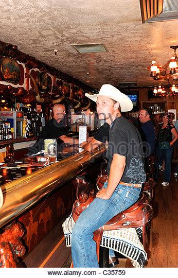 Million Dollar Cowboy Bar Jackson Hole Stock Photos