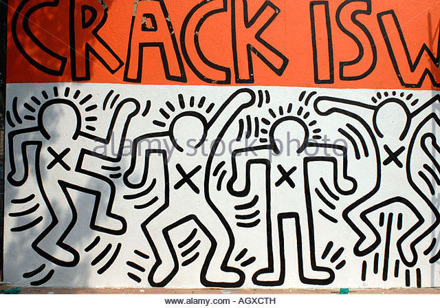 Wack stock photos wack stock images alamy for Crack is wack keith haring mural