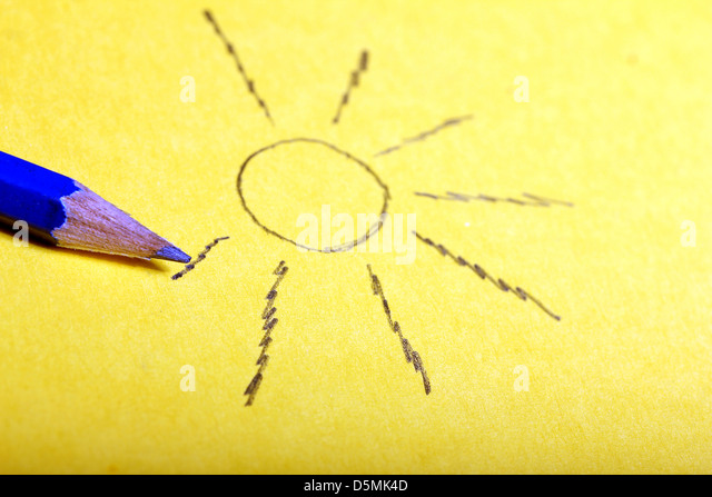 Sun Pencil Drawing