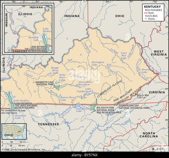 Physical Map Kentucky Stock Photos Physical Map Kentucky Stock - Indiana physical map