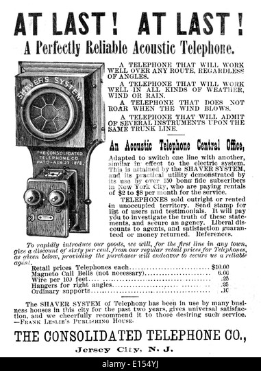 acoustic-telephone-advert-1886-e154yj Northern Electric Telephone Wiring Diagram on