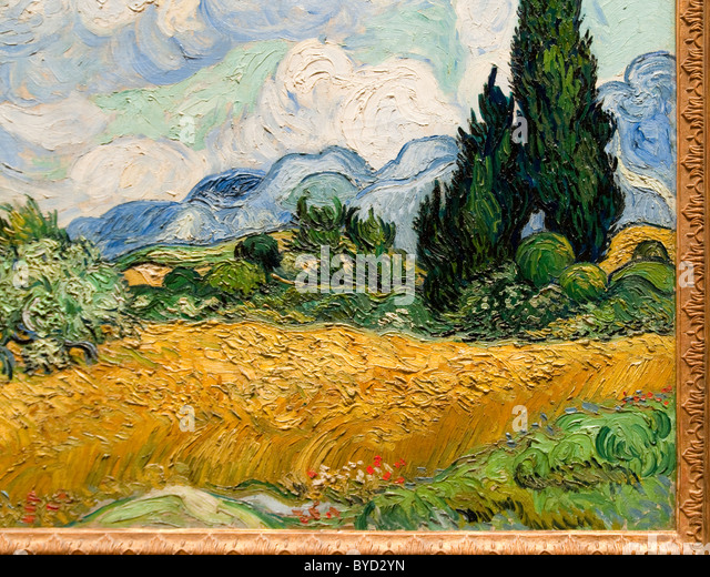 an analysis of wheat field and cypress trees by vincent van gogh Wheatfield with cypresses by vincent van gogh buy now from artcom during his time at saint-paul-de-mausole (a mental asylum) at saint-rémy, vincent van gogh painted a series of scenes involving either wheat fields or cypresses.