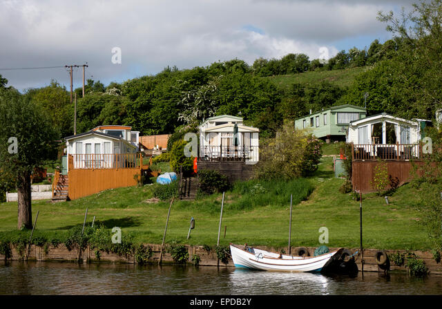 Static Caravans At Hampton Ferry Evesham Worcestershire England UK
