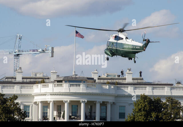 presidential helicopter marine one makes its final approach for landing on the white house south lawn