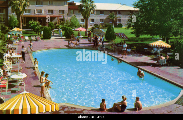 1950s swimming pool stock photos 1950s swimming pool stock images alamy for Las vegas swimming pools open to public