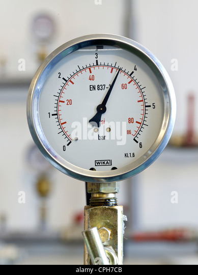 Gas Measuring Instruments : Gas manometer stock photos images