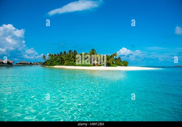 Maldives rangali island hilton resort stock photos for Hilton hotels in maldives