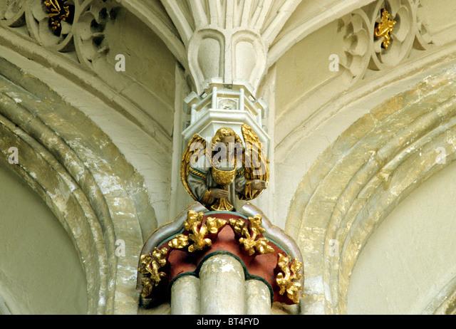 Christchurch priory interior stock photos
