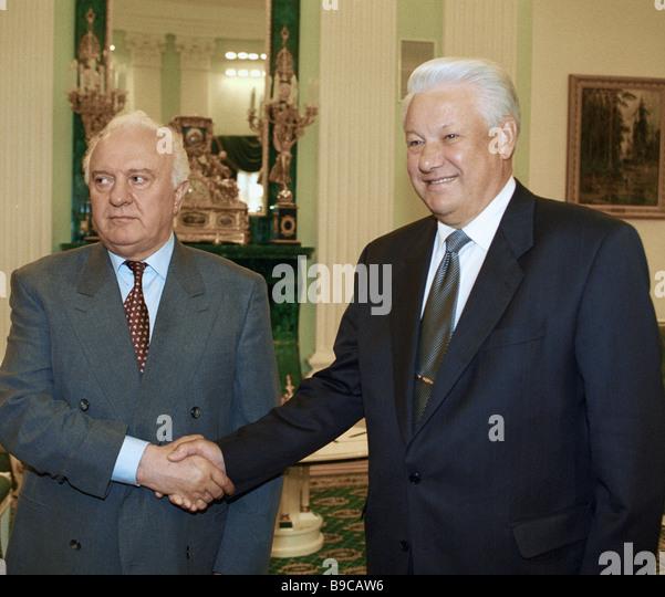 Meet georgian and russian presidents