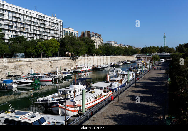 Port of paris stock photos port of paris stock images alamy - Port de l arsenal bastille ...